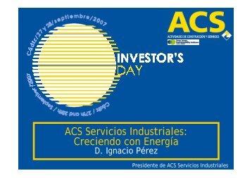 Jornada de ACS Servicios Industriales - Grupo ACS