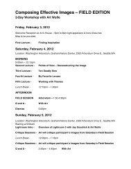 Printable PDF - Art Wolfe Workshops