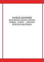 Naskah Akademik RUU KUHAP 2011 - Elsam
