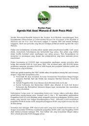 Agenda Hak Asasi Manusia di Aceh Pasca MoU - Elsam