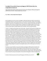 Investigasi dan penulisan laporan pelanggaran HAM oleh ... - Elsam