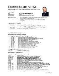 curriculum vitae - Blog Fakultas Ilmu dan Teknologi Kebumian - ITB