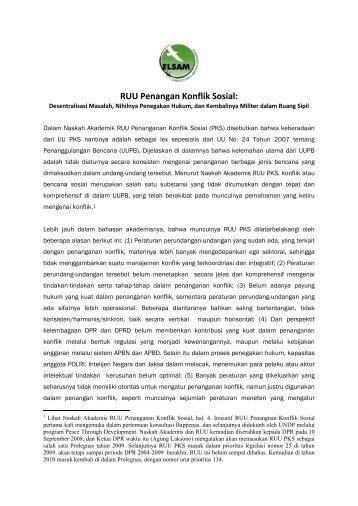 Catatan Kritis Elsam atas RUU Penanganan Konflik Sosial.pdf