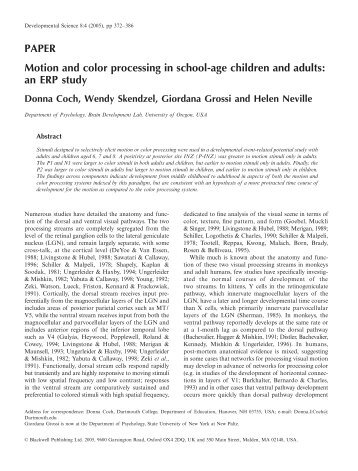 Motion and color processing in school-age children and adults: an ...
