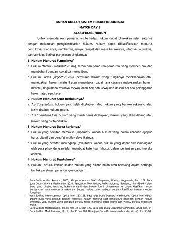 bahan kuliah sistem hukum indonesia 8 - mahendraputra.net