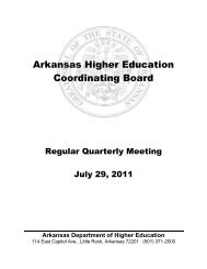 Arkansas Higher Education Coordinating Board