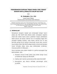 perkembangan pengaturan pers dalam hukum pidana - Elsam