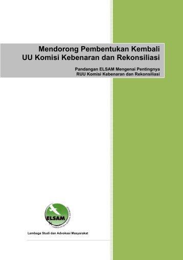 Brief Paper_Mendorong Pembentukan Kembali UU KKR.pdf - Elsam