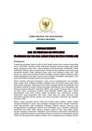 Ringkasan Eksekutif DOM Aceh - Elsam