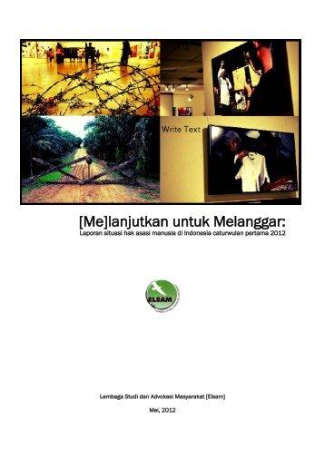 Laporan HAM Caturwulan Pertama 2012.pdf - Elsam