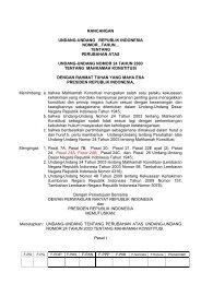 RUU Mahkamah Konstitusi - Elsam