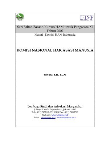 Mekanisme Komnas HAM di Indonesia - Elsam