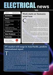 Work starts on Tasmania wind farm PV market ... - Engineers Media