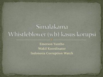 Simalakama Whistleblower kasus korupsi - Elsam