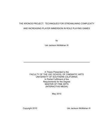 Uel thesis declaration