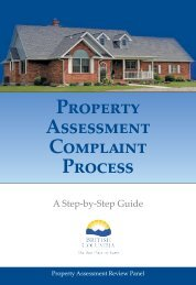 Property Assessment Complaint Process