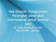 Tools for ICESR data analysis by Kitty Arambulo - ekosob.pdf - Elsam