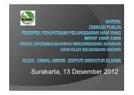 Surakarta, 13 Desember 2012 - Elsam