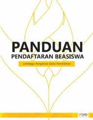 Booklet - Beasiswa LPDP
