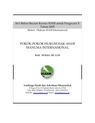 pokok-pokok hukum hak asasi manusia internasional - Elsam