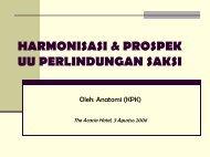 HARMONISASI & PROSPEK UU PERLINDUNGAN SAKSI - Elsam