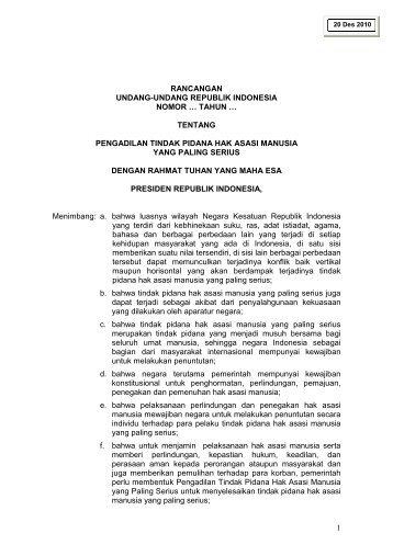 Draft Amandemen UU 26/2000 - Elsam