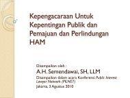 Kepengacaraan Untuk Kepentingan Publik dan Pemajuan ... - Elsam
