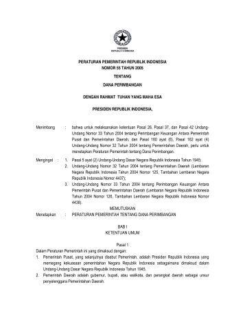 Peraturan presiden nomor 9 tahun 2013