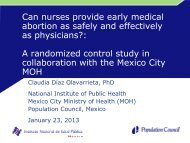 Can nurses provide early medical abortion as safely and effectively ...