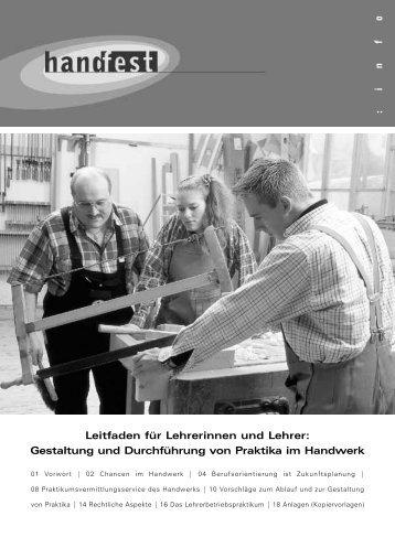 Leitfaden für Lehrerinnen und Lehrer: Gestaltung ... - Handfest-Online