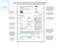 Muster DKD-Kalibrierschein