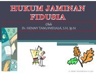 HUKUM JAMINAN FIDUSIA