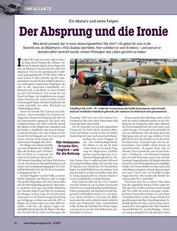 Der Absprung und die Ironie - Fliegermagazin