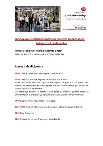 Programa Encuentro - Asociación de Jóvenes Empresarios