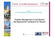 Problem Management im bayerischen Landesamt für Steuern - FIT-öV