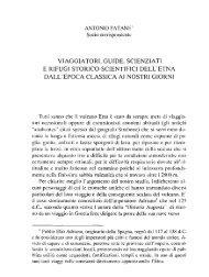 viaggiatori, guide, scienziati e rifugi storico-scientifici dell'etna dall ...