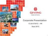 Corporate Presentation - Genting Malaysia Berhad