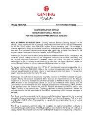 GENM 2Q2010 Press Release.pdf - Genting Malaysia Berhad