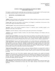 GENERAL TERMS AND CONDITIONS OF PURCHASE ORDER ...