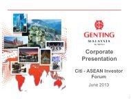 Corporate Presentation Citi ASEAN Investor Forum - Singapore ...