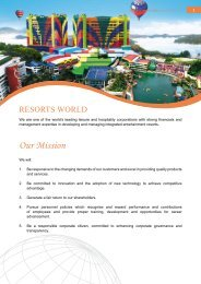 Our Mission - Genting Malaysia Berhad