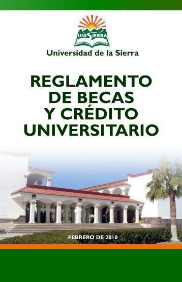 Reglamento de Becas y Crédito Universitario - Universidad de la ...