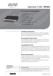 Digimaster H.264 - DR16HL - CBC CCTV
