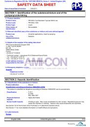 SAFETY DATA SHEET - AMI-CON