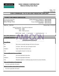 DOW CORNING CORPORATION Material Safety Data ... - AMI-CON