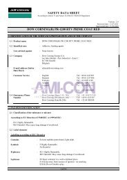 safety data sheet dow corning(r) pr-1200 rtv prime coat red - AMI-CON