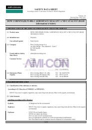 SAFETY DATA SHEET DOW CORNING(R) 93-006-1 ... - AMI-CON
