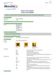 SAFETY DATA SHEET BOSTIK 300 PRIMER - eANIXTER