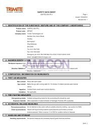 safety data sheet 1. identification of the substance ... - AMI-CON