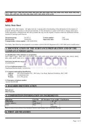 Safety Data Sheet 1. IDENTIFICATION OF THE ... - AMI-CON